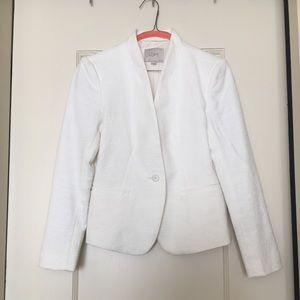 LOFT textured white blazer